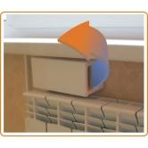 Стеновой вентиляционный приточный клапан Домвент