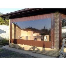 Мягкие окна - тентовые ПВХ шторы для беседок и террас